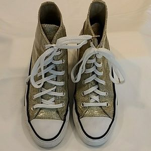 Converse Gold High top Sneakers 5.5
